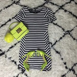 Bebe Striped Mini Dress